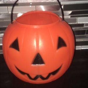 Plastic Jack O Lantern Treat Bucket